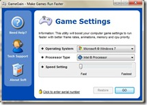 GameGain-settings