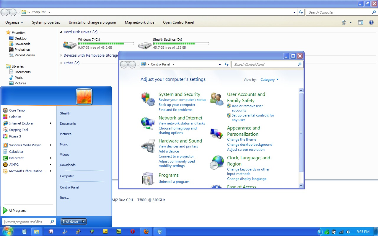 xp windows 7 themes free download
