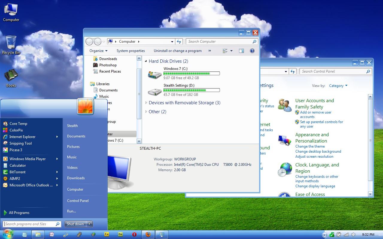 windows ธีม xp luna - windows 7