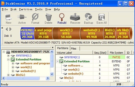 Program de reparat hard disk-ul – Recover Lost Partition (Rebuild Master Boot Record & Partition Table) Disk