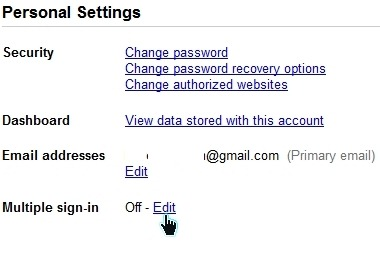 Multiple Google Accounts Sign-In