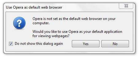 opera default browser