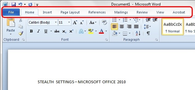 micro office word 2010