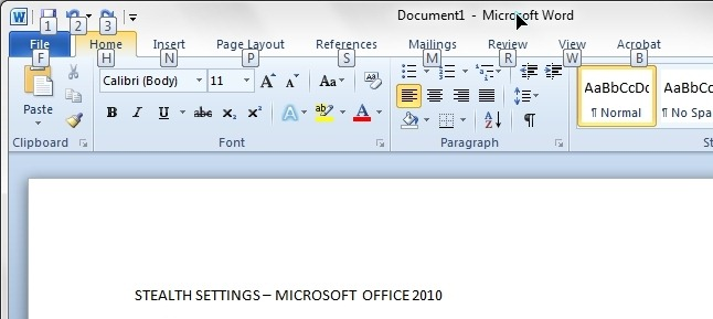 how to save your work on microsoft word without mouse