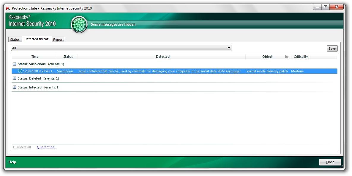 PDM Keylogger - Bản vá bộ nhớ chế độ lõi - SETTINGS STEALTH