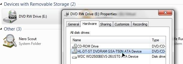 LG製DVDドライブ GH20NS10の ... - Yahoo!知恵袋