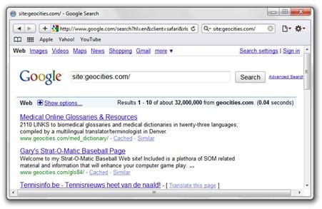Yahoo GeoCities Sule
