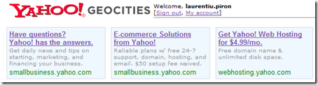 """Yahoo!"" GeoCities """