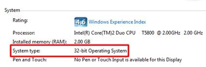 32 bit system