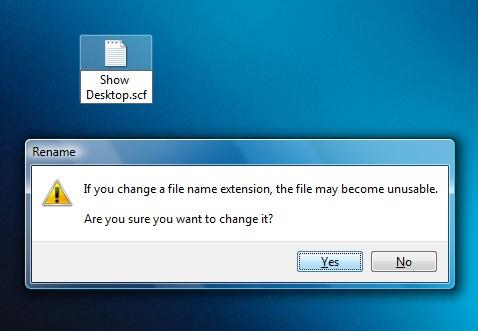 montrer desktop scf