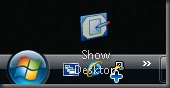Show Desktop Quick Launch