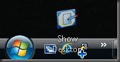 त्वरित लॉन्च करने के लिए दिखाना डेस्कटॉप