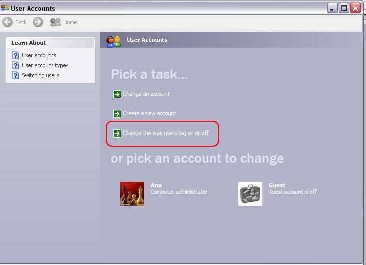 xp administrator login