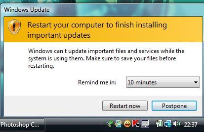 Windows vistan päivitys