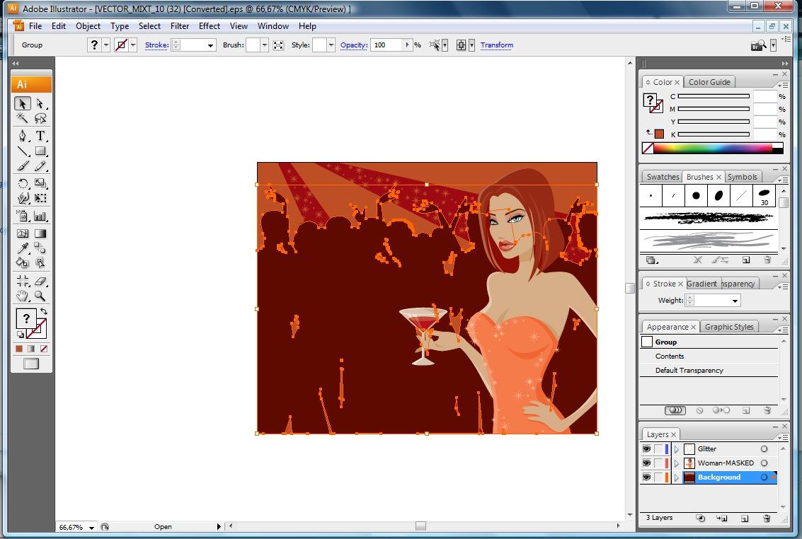 Conjunto Vectores Eps Adobe Illustrator Configuraci N