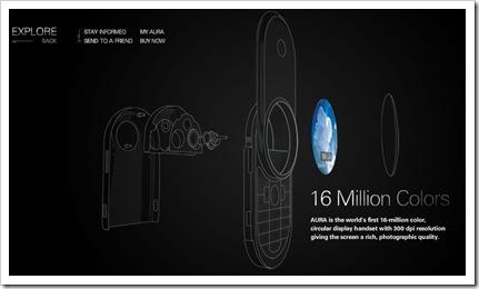 Motorola Aura ekranas 300dpi