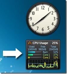 CPU meter gadget vinduer