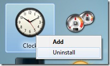 uninstall desktop gadgets