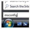 msconfig Vista
