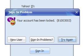 yahoo id locked