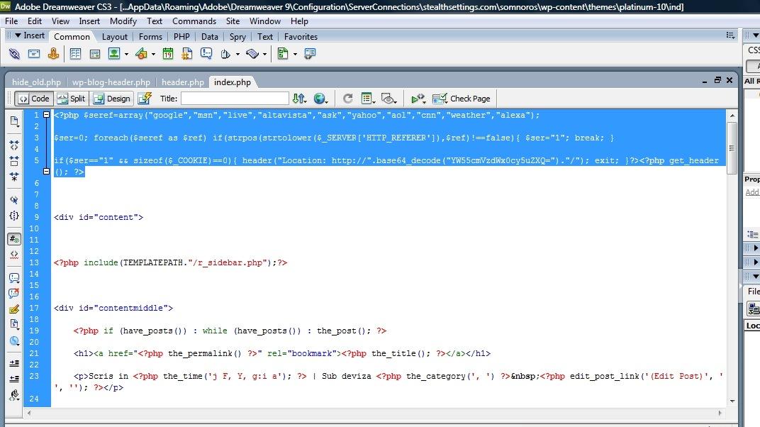 index code