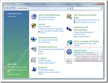 Jednoduchosť Access - Ovládací panel