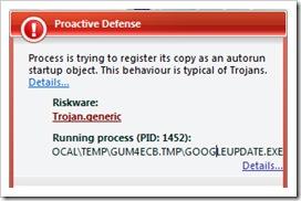 google trojan generic