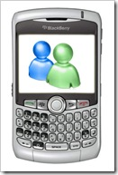 blackberry smartphone windows live messenger