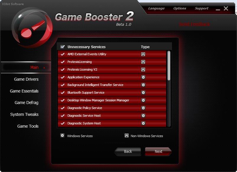 Game Booster Dienstleistungen