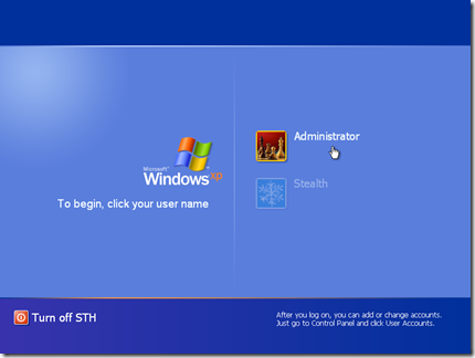 Welcome Login Screen Windows XP