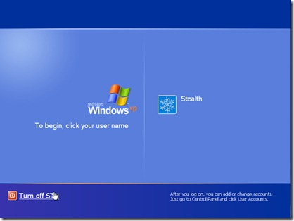 logon users screen xp