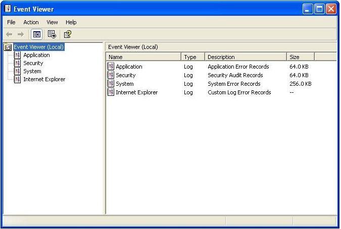 un événement-system-viewer-xp