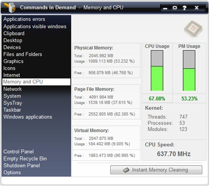 la memoria y la CPU