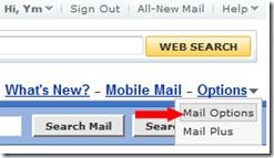 אפשרויות דואר יאהו