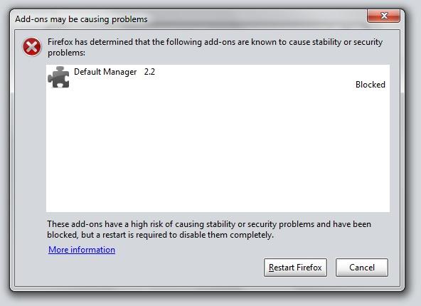 Firefox Default Manager