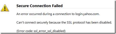 Firefox SSL Protocol Error