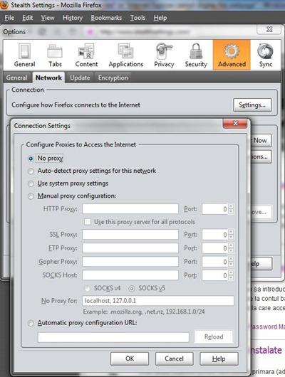 configuração de proxy mozilla firefox