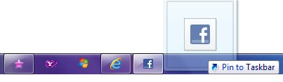 pin to taskbar web page