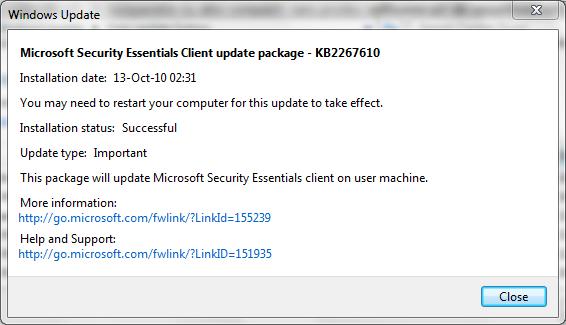 Windows Update Center - AntiVirus