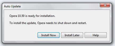 Telepítse Opera Beta 10.50 2