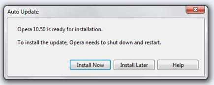 Įdiegti Opera Beta 10.50 2