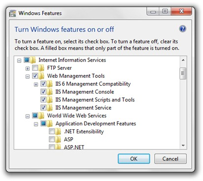 Windows 7 Features IIS