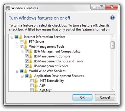 Windows НИКОГА функции IIS