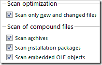 Kaspersky Scan Optimization
