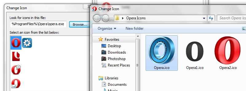 Opera New ikoonid