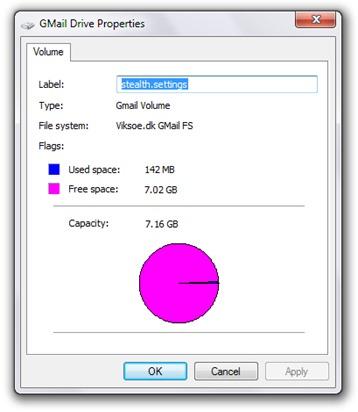 Gmail의 드라이브 속성