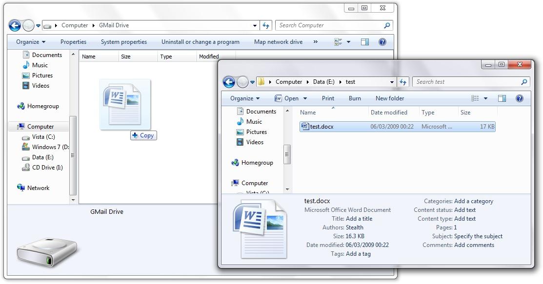 тест file gmail диск
