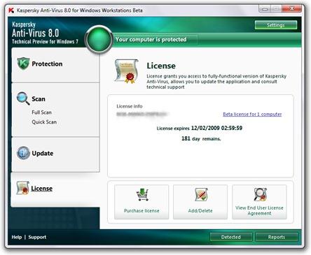 Kaspersky Anti-Virus pour Windows Workstations 8.0
