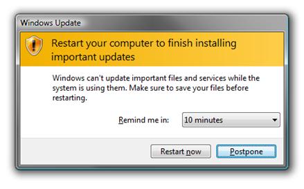 reinicialização do computador