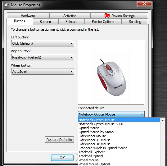Скачать драйвер для мыши для windows 7 скачать